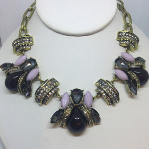 Cara Couture Bold Statement Crystal Bee Necklace
